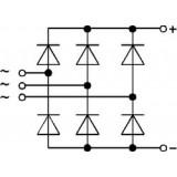 semikron پل دیود سه فاز 145 آمپر 1600 ولت SEMIKRON SKD145-16 آلمان سمیکرون