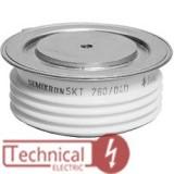 TECHSEM تریستور فست دیسکی 1200 آمپر 2800 ولت Techsem چین Y50KKG