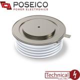 تریستور فاز کنترل دیسکی 3000 آمپر 4500 ولت AR679S45 POSEICO