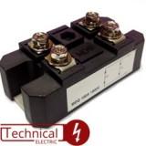 TECHSEM ماژول دیود نعلی 3 تایی دیود 50 آمپر 1200 ولت MXY50/12 چین