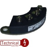 TECHSEM ماژول 3 تایی دیود 70 آمپر 1200 ولت دیود نعلی MXG70/12 چین
